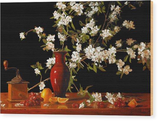 Apple Blossum Time Wood Print