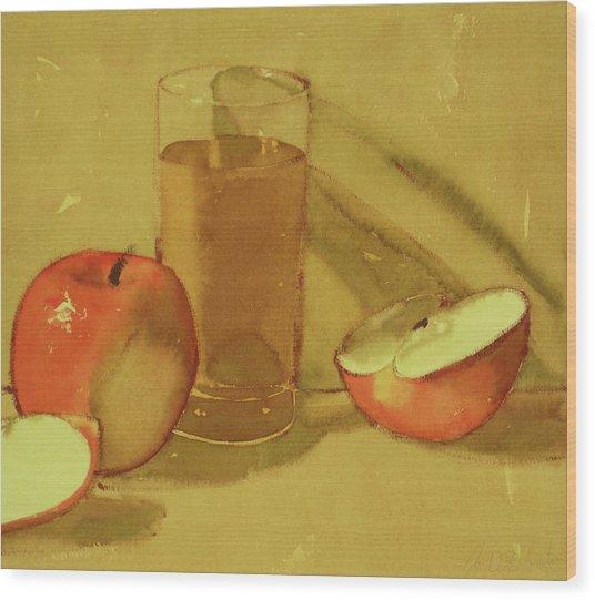 Apple Juice Wood Print