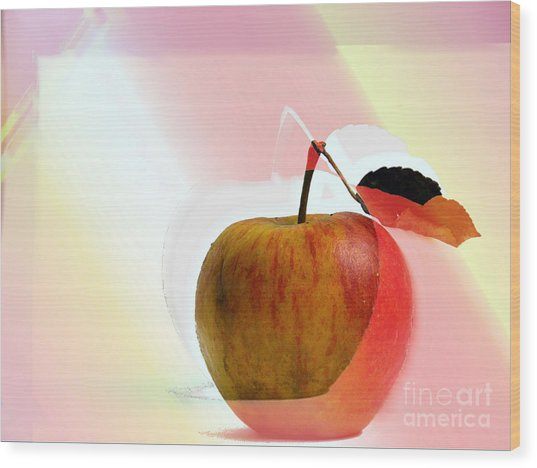 Wood Print featuring the photograph Apple Peel by Luc Van de Steeg