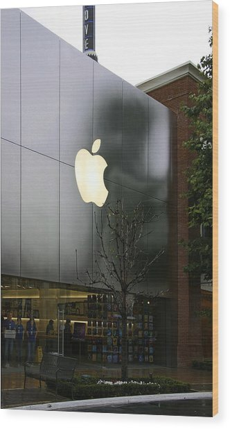 Apple Store Wood Print by Viktor Savchenko