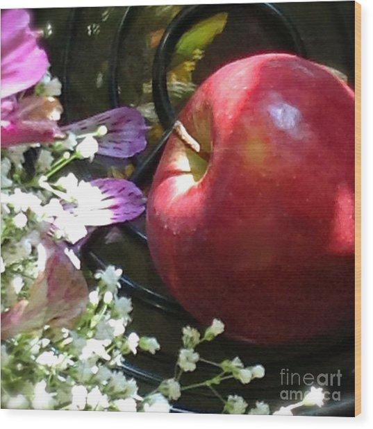 Appleflowers Wood Print