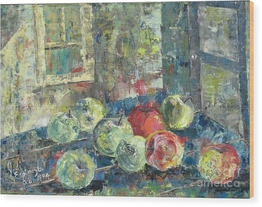 Apples - Sold Wood Print