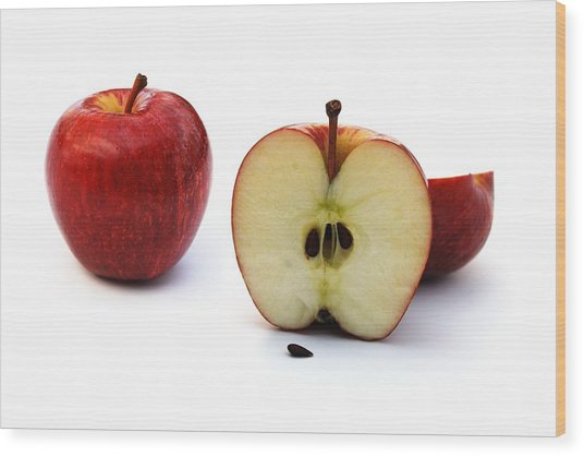 Wood Print featuring the photograph Apples Still Life by Jocelyn Friis