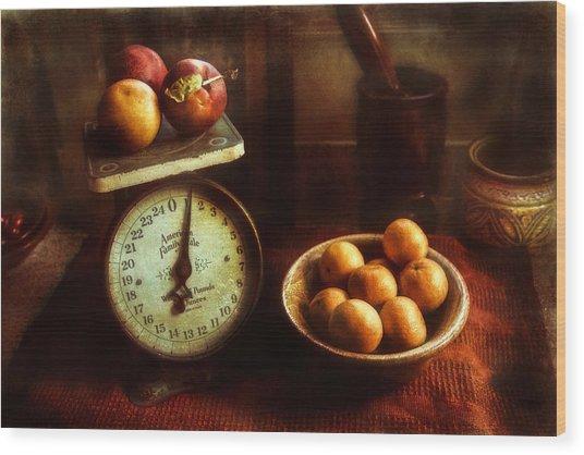 Apples To Oranges Wood Print