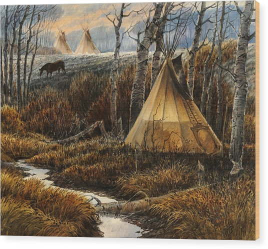 Approaching Dusk Wood Print