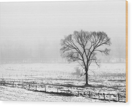 Approaching Fog Wood Print