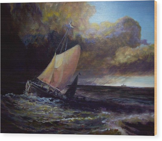 Approaching Gale  After Turner Wood Print