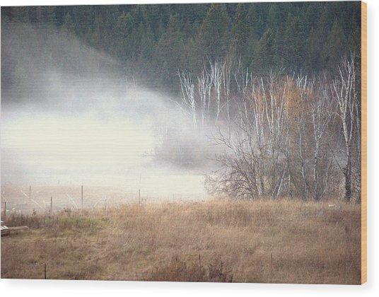 Approaching Mist Wood Print