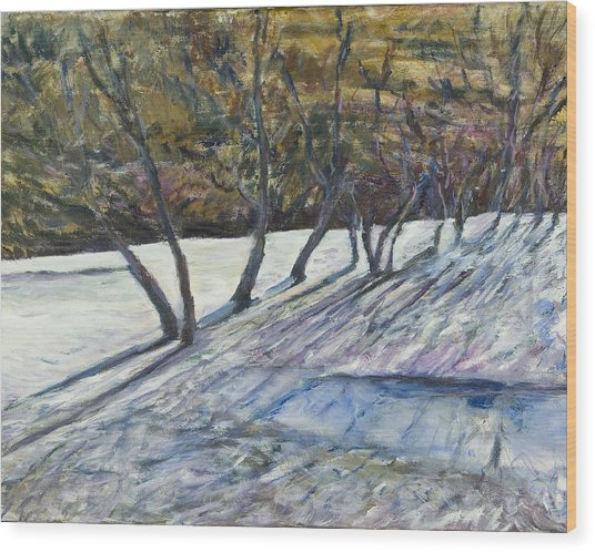 April Coulee Wood Print