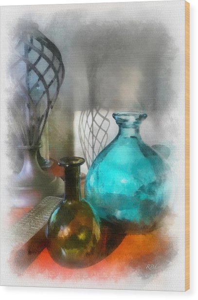 April Sun Wood Print by Rick Lloyd