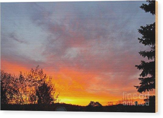 April Sunrise Wood Print