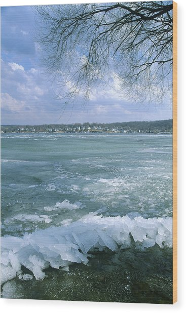 April Thaw - Lake Geneva Wisconsin Wood Print