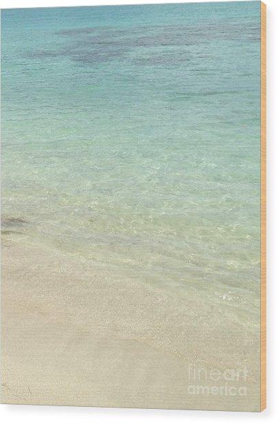 Aqua Blue Waters Wood Print