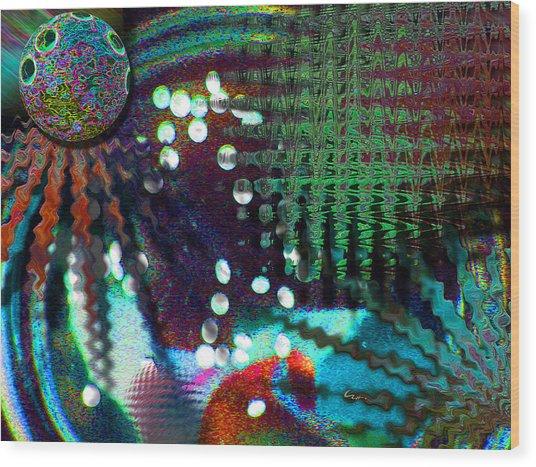Aqua Dish Wood Print
