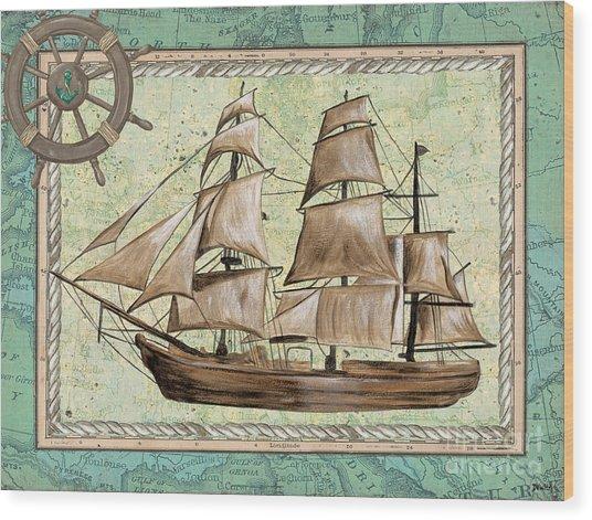 Aqua Maritime 1 Wood Print