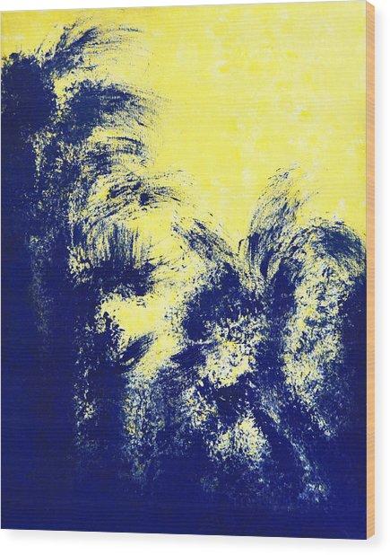 Aquamarine Blue Painting Wood Print