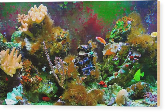 Aquarium Wood Print