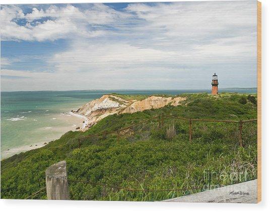 Aquinnah Gay Head Lighthouse Marthas Vineyard Massachusetts II Wood Print