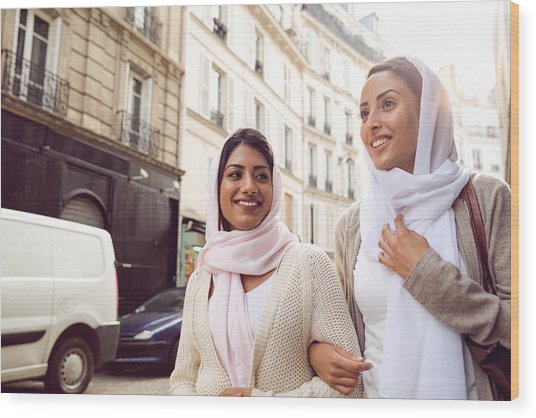 Arab Youth In Paris - Middle Eastern Millennials Wood Print by LeoPatrizi