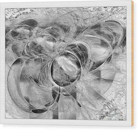 Arabesque Design In Black And White Wood Print by Leona Arsenault