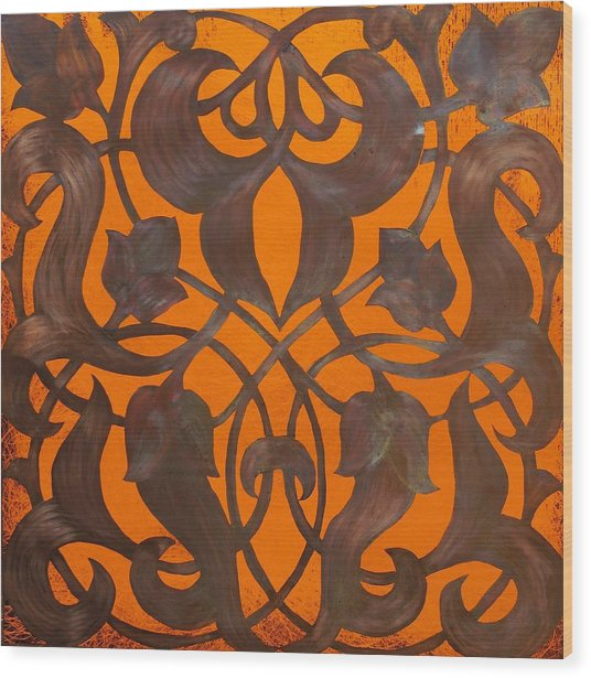 Arabesque Window Passage Wood Print