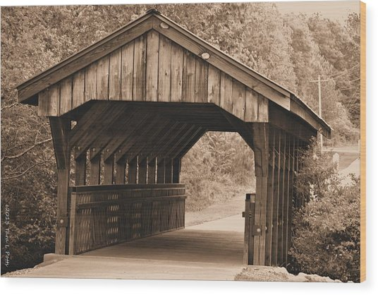 Arabia Mountain Covered Bridge Wood Print