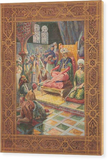 Arabian Nights H J Sandham Wood Print by Paul Ashby Antique Paintings