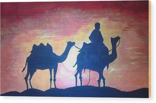Arabian Sands Wood Print by Remya Damodaran