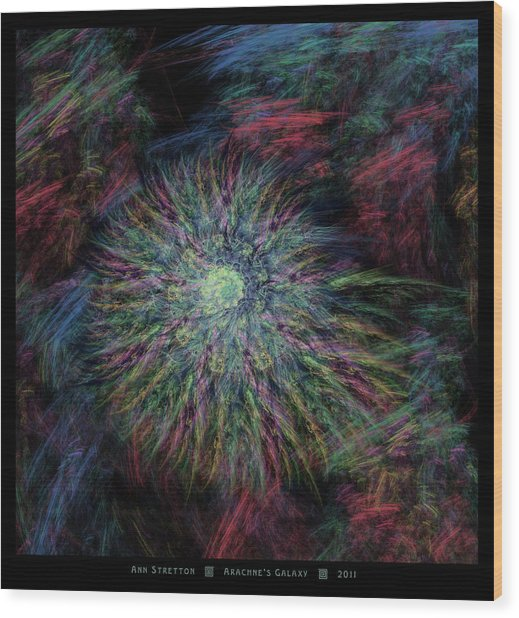 Arachne's Galaxy  Wood Print