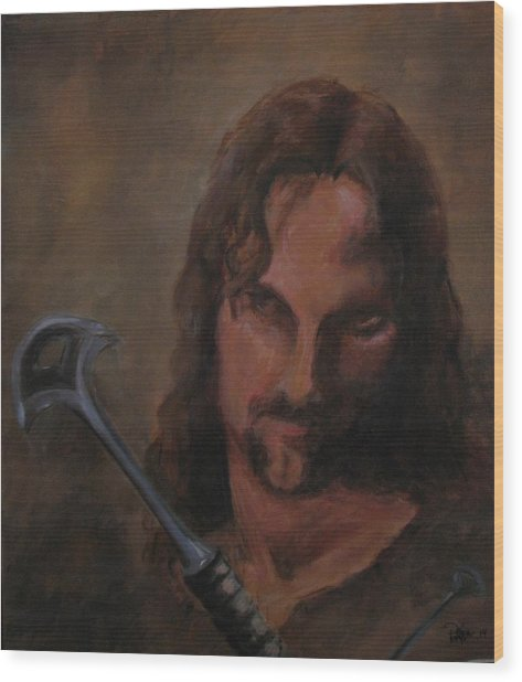 Aragorn Wood Print