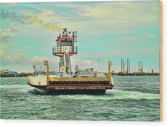 Aransas Pass Texas Ferry Wood Print