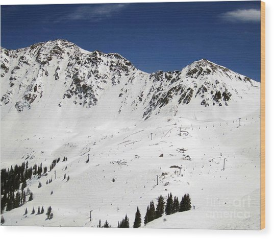 Arapahoe Basin Ski Resort - Colorado          Wood Print