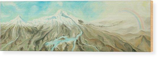 Ararat Wood Print by Sandra Yegiazaryan