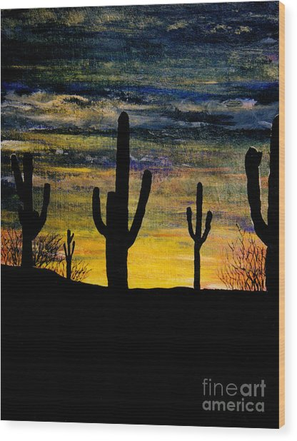 Arazona Sunset Wood Print