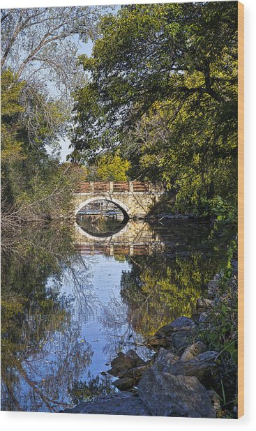 Arboretum Drive Bridge - Madison - Wisconsin Wood Print