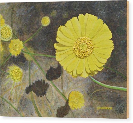 Arboretum Wild Flower  Wood Print