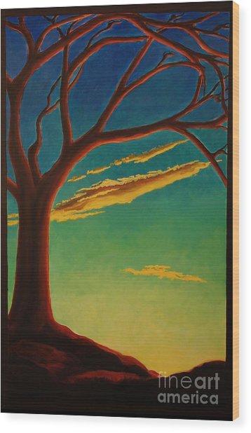 Arbutus Bliss Wood Print by Janet McDonald