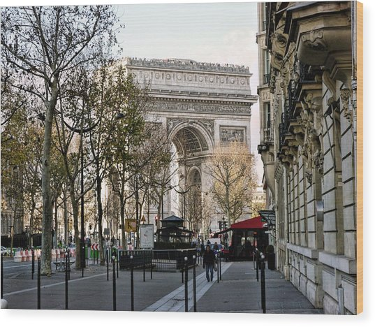 Arc De Triomphe Paris Wood Print