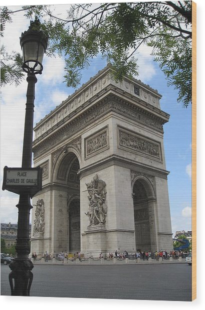 Arc De Triomphe Wood Print by Stephanie Hunter