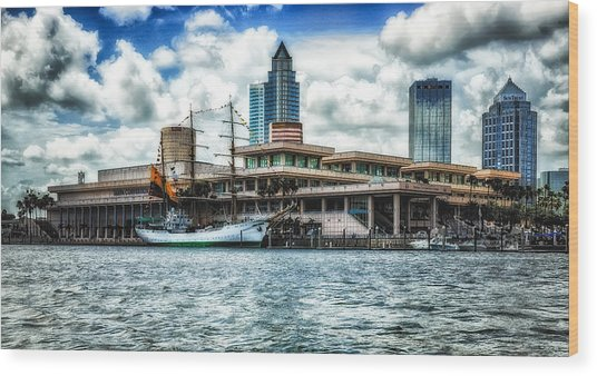 Arc Gloria In Port In Hdr Wood Print