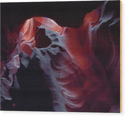 Arc Light Wood Print