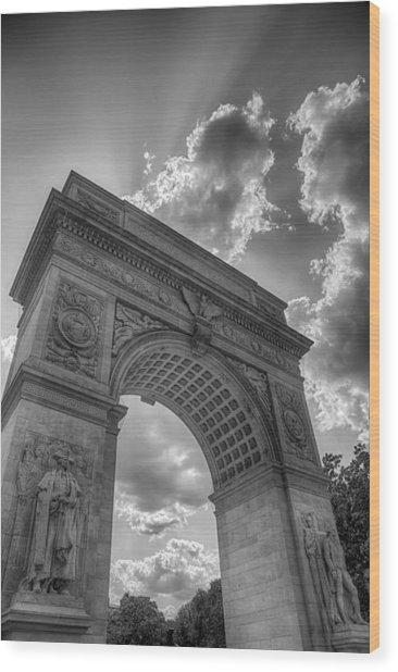 Arch At Washington Square Wood Print
