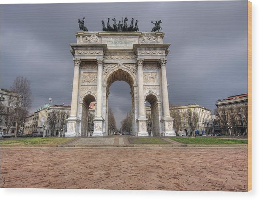 Arch Of Peace Milano Wood Print by Ioan Panaite
