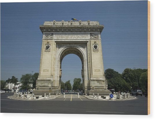 Arch Of Triumph Wood Print by Ioan Panaite