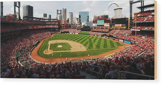 Arch Returns To The Outfield Wood Print