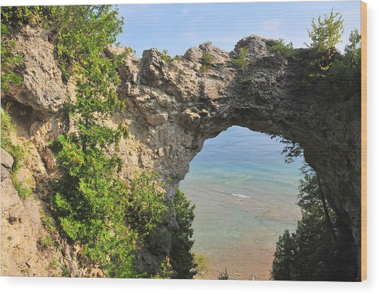 Arch Rock In Mackinac Island State Park Wood Print
