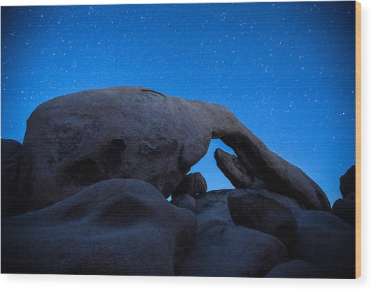 Arch Rock Starry Night 2 Wood Print