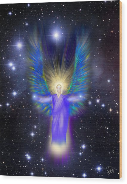 Archangel Michael Wood Print