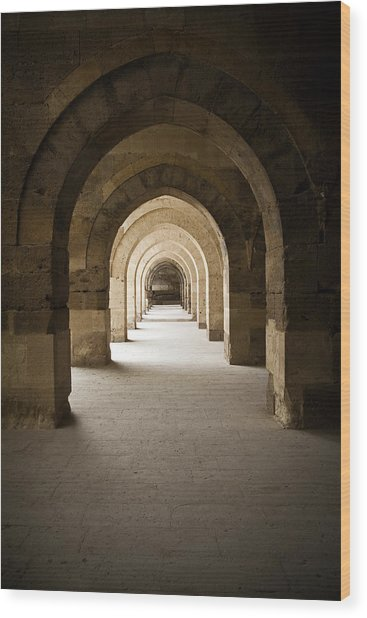 Arched Colonade Wood Print