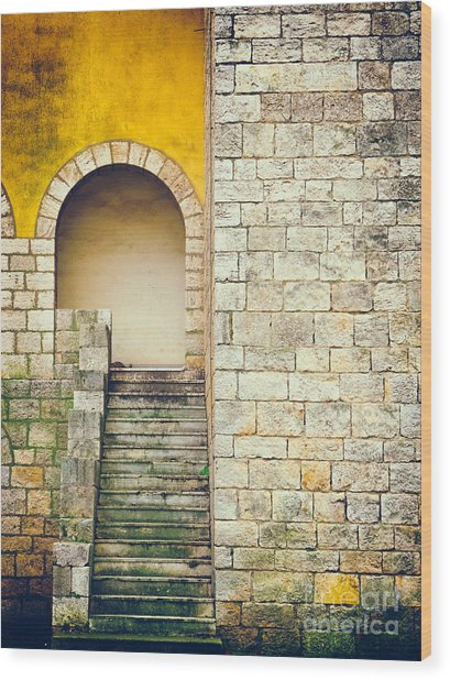Arched Entrance Wood Print